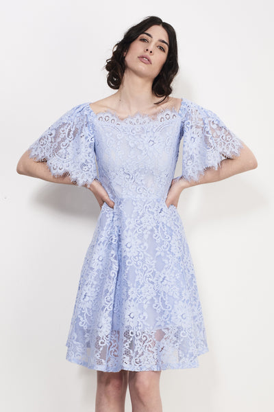 SQUARE UP LACE DRESS