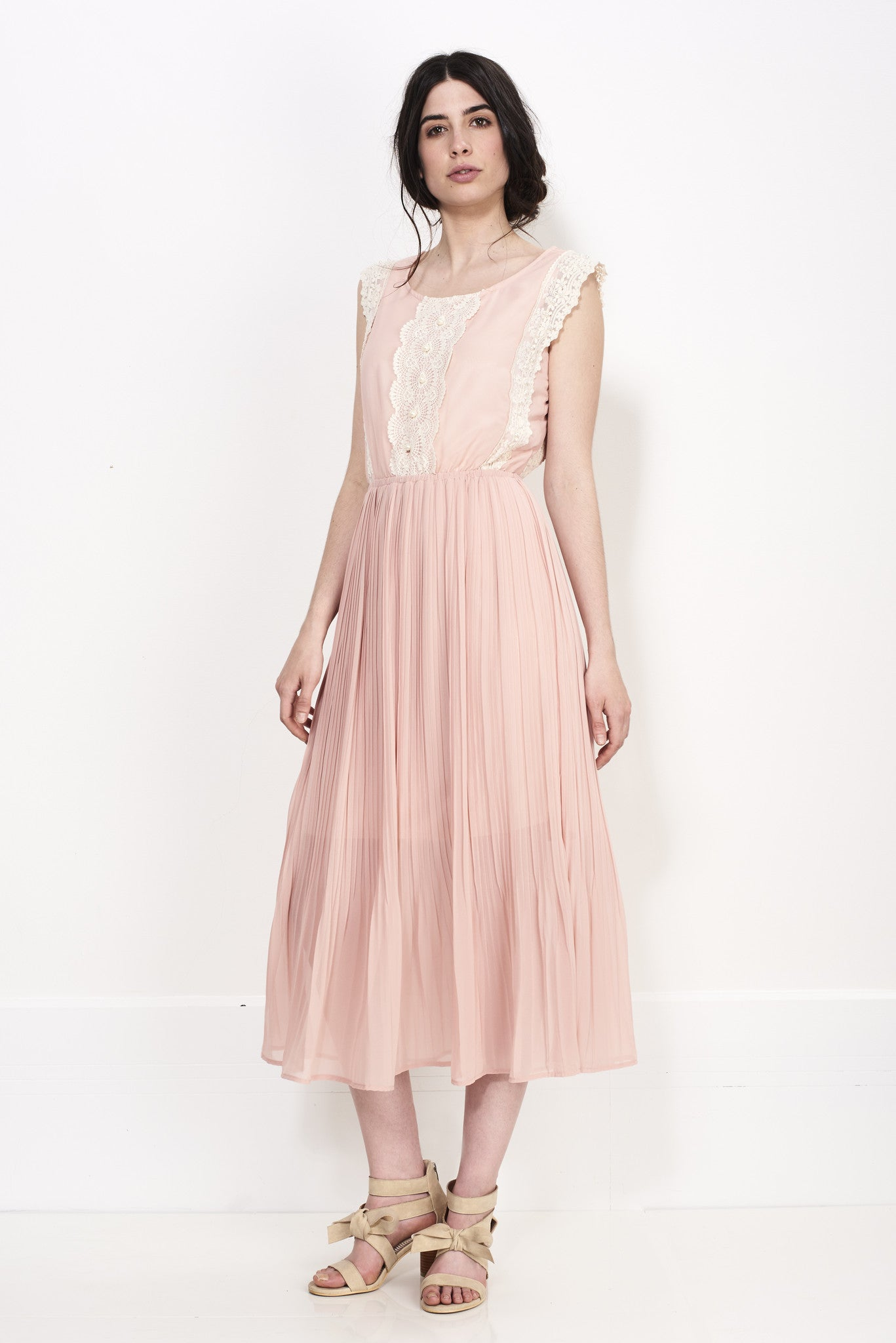 CENTER LACE MAXI DRESS - Darccy & Soma London