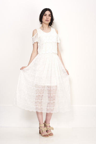 PURE WHITE MAXI LACE - Darccy & Soma London