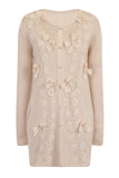 BUTTERFLY LONG CARDIGAN - CREAM