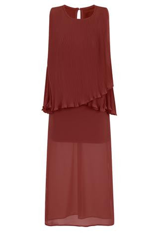 RELAXED CAPE TOP MAXI DRESS