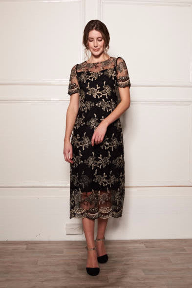 HEART LACE MAXI DRESS - Darccy & Soma London