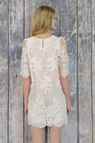 FLAKE FROST LACE SHIFT DRESS