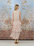 KUNKUN LACE MAXI DRESS- PINK, IVORY - Darccy & Soma London