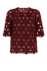 MY DAISY LACE TOP - BURGUNDY - Darccy & Soma London
