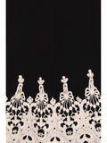 ROYAL PATTERN LONG JACKET - BLACK