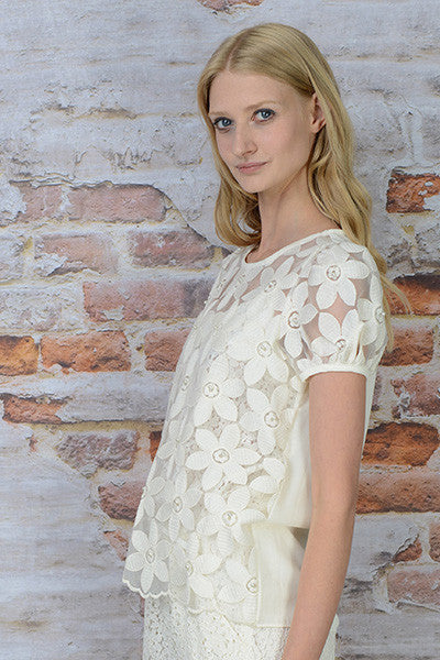 MY DAISY LACE TOP - IVORY