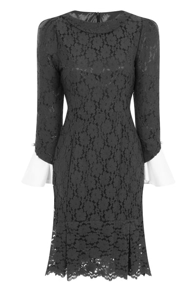 SLEEVES OUT FIT DRESS - STEEL - Darccy & Soma London