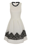 SKYLINE LACE TRIM DRESS - IVORY
