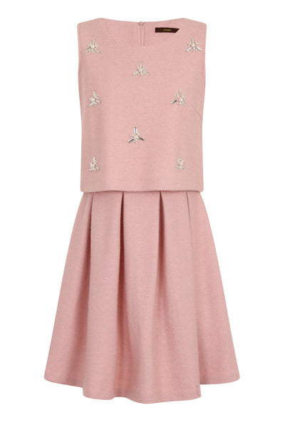 STARRY BEADS DRESS - PINK - Darccy & Soma London