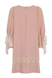 RIBBON SLEEVE DRESS - PINK - Darccy & Soma London