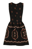 CARNIVAL DOTS PRINT DRESS - BLACK