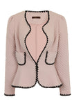 DELICATE EDGE JACKET - PINK - Darccy & Soma London