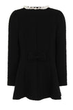 LACEY LINE LONG JACKET - BLACK