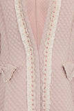 LACEY LINE LONG JACKET - PINK