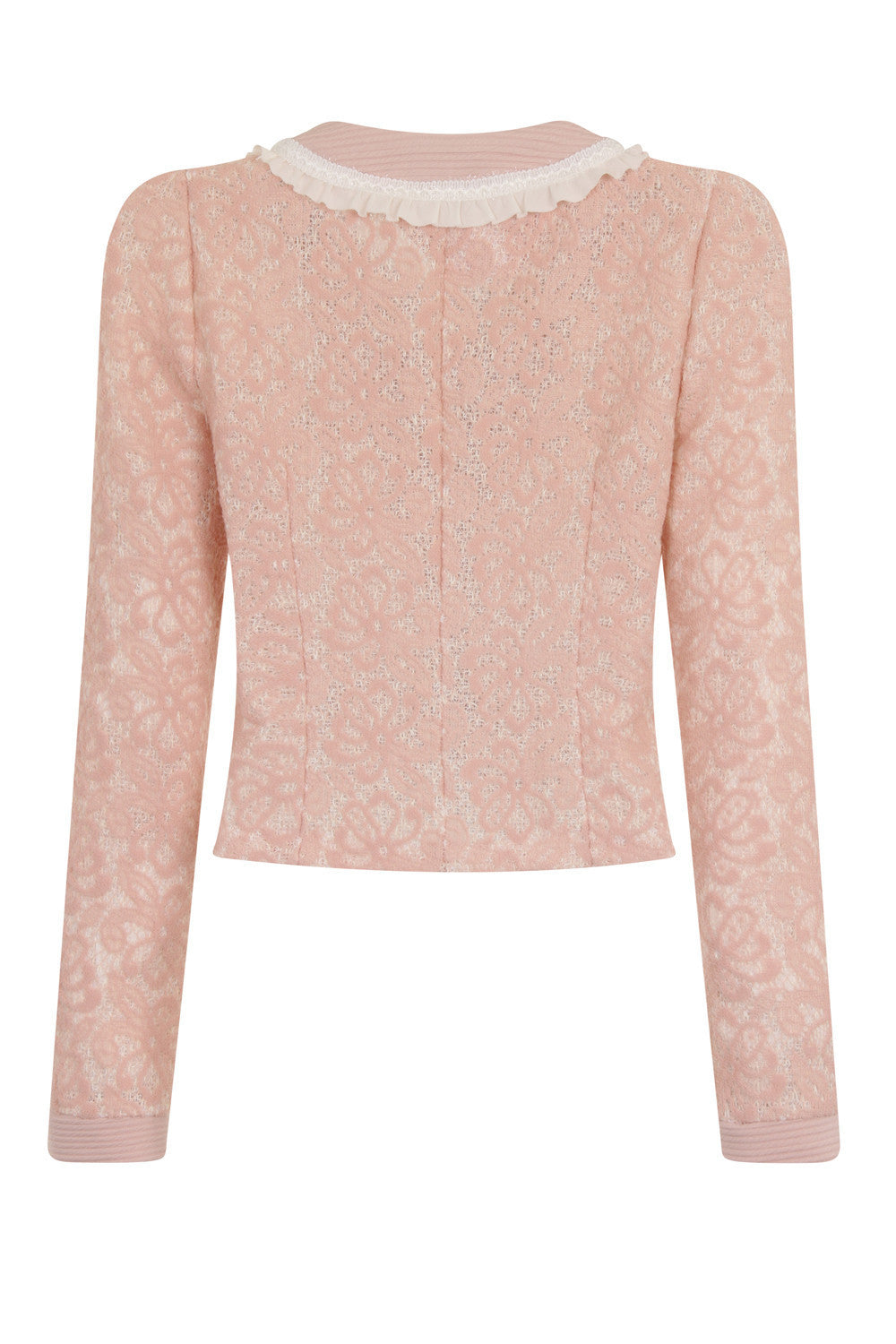 QUARTER LACE SHORT JACKET - PINK - Darccy & Soma London