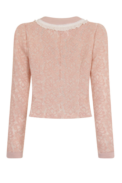 QUARTER LACE SHORT JACKET - PINK