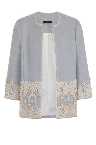 LUXY PEARL OPEN COAT - BLUE