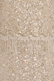 EDIQUATE TASSLE SEQUIN LACE DRESS - GOLD