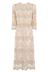 SUNSHINE SHEER LACE LONG DRESS - Darccy & Soma London