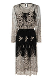 MIDNIGHT SHEER EMBROIDERY DRESS - Darccy & Soma London