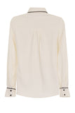 ENVELOPE POCKET CHIFFON BLOUSE - IVORY