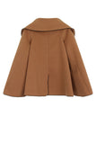 SIDE BOW CAPE - CAMEL