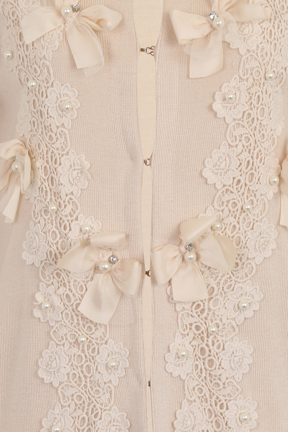 BUTTERFLY LONG CARDIGAN - CREAM - Darccy & Soma London