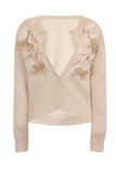 RIBBON BOW CARDIGAN - CREAM