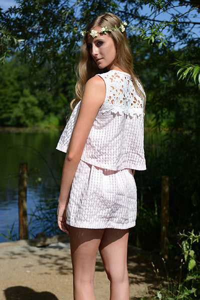 DOUBLE FRILL PLAYSUIT
