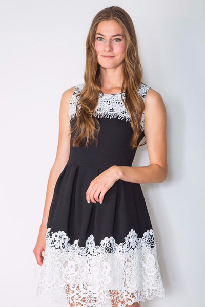 DOUBLE TRIM DRESS