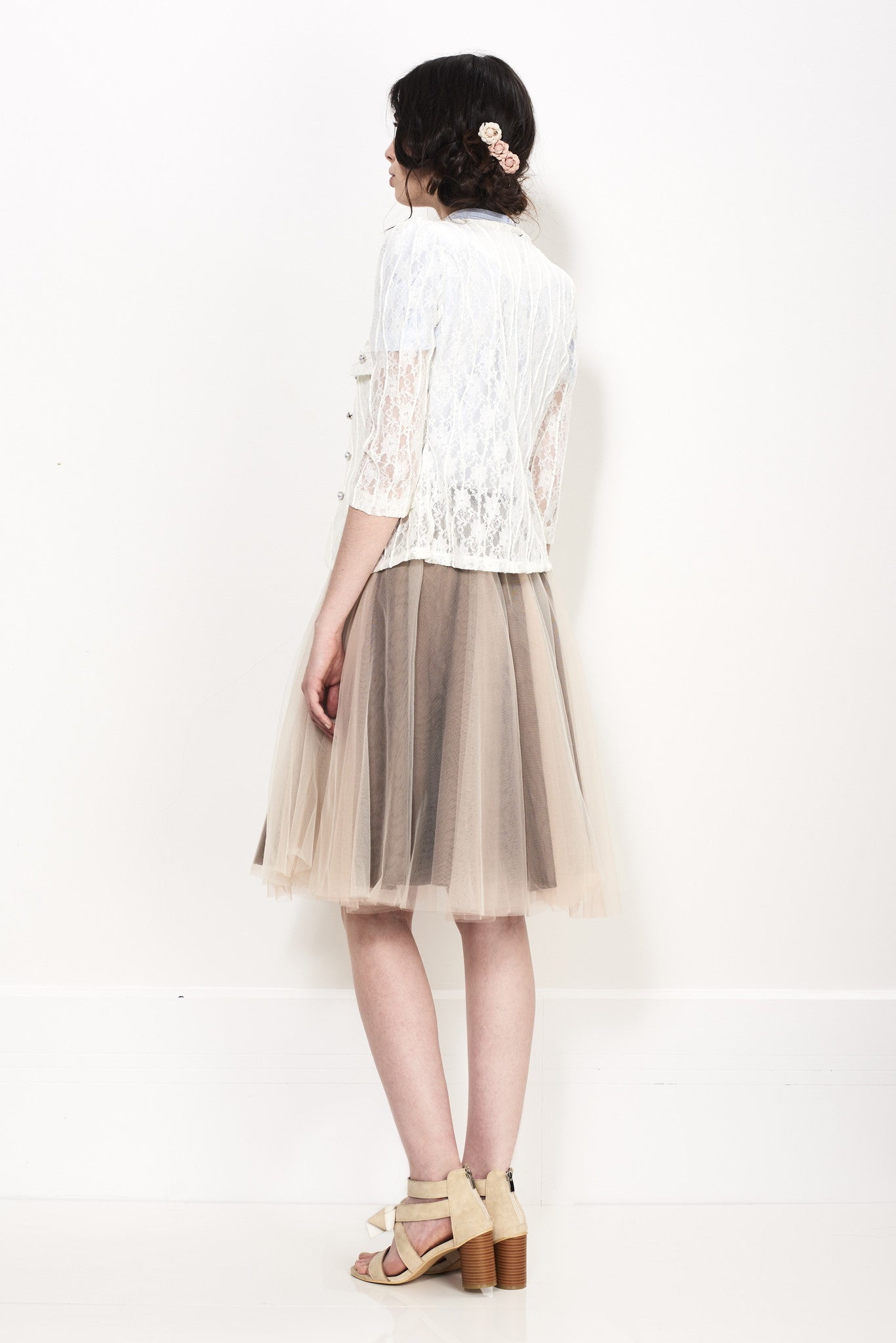 NET SHEER SKIRT - Darccy & Soma London