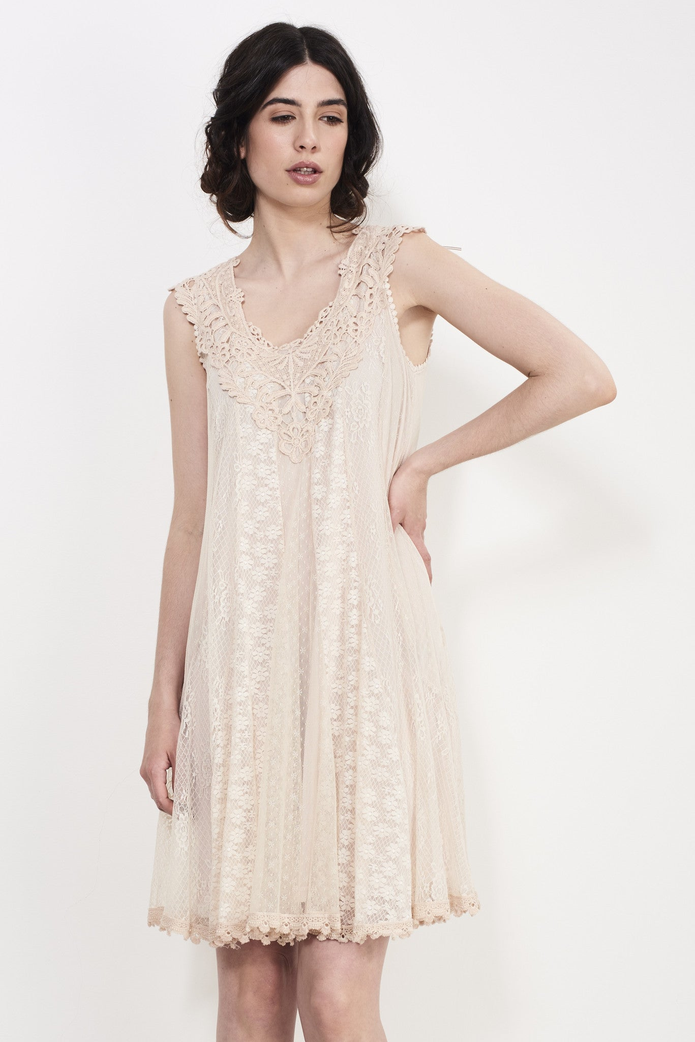 COMBO LACE DRESS - Darccy & Soma London