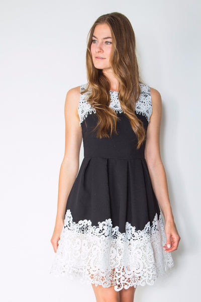 DOUBLE TRIM DRESS - Darccy & Soma London