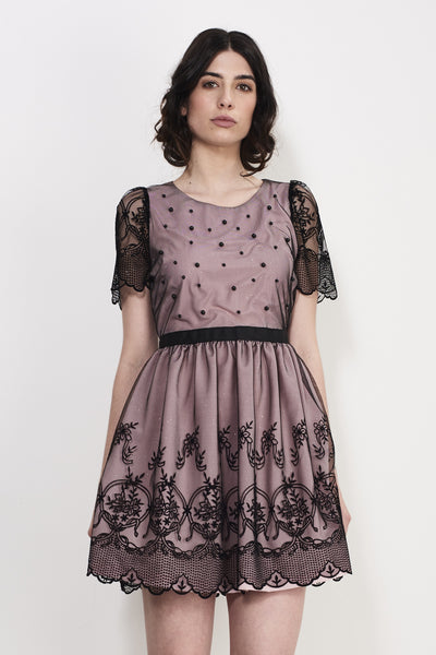 EVENING SHEER DRESS - Darccy & Soma London
