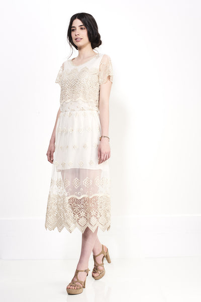 GLORY GOLD LACE DRESS