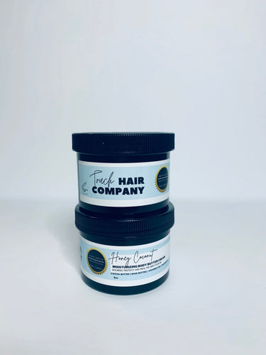 touch hair companys moisturizinf skin perfecting  honey coconut body butter cream