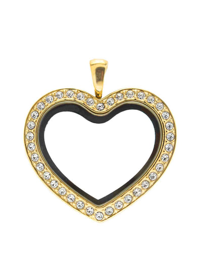 Charmwaechter crystal heart gold