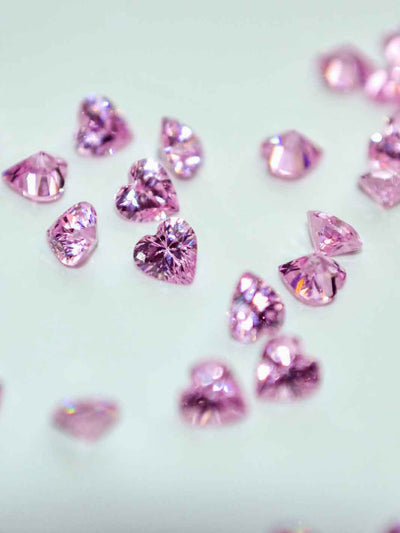 Crystal Heart pink