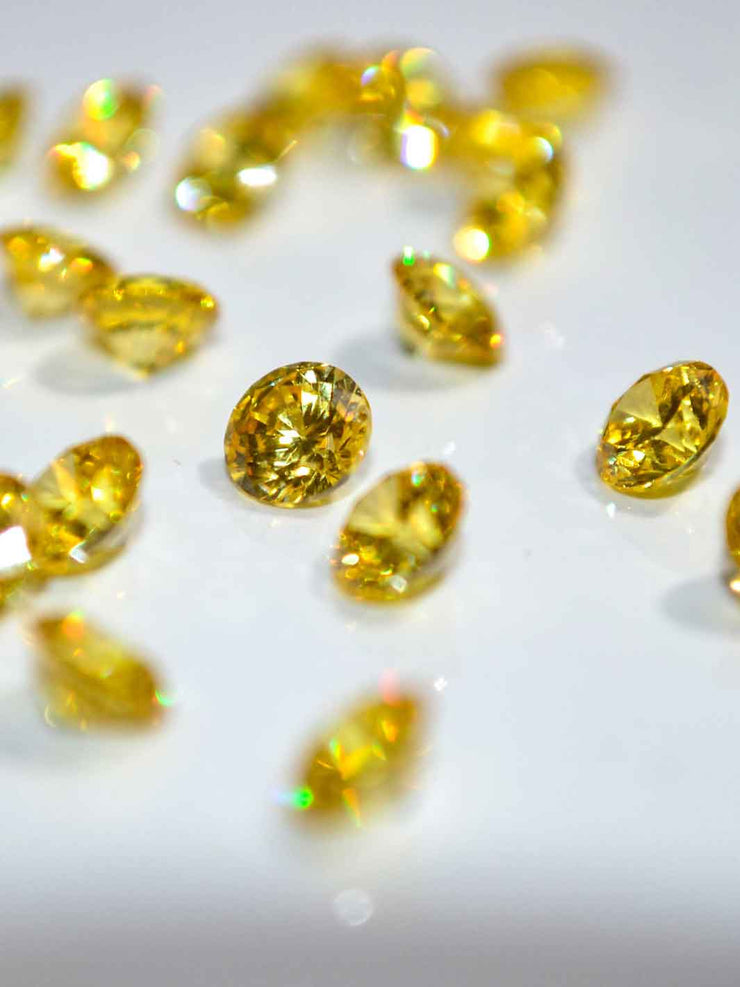 Crystal Round golden yellow