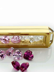 Crystal Set Love in goldener Crystal Bar