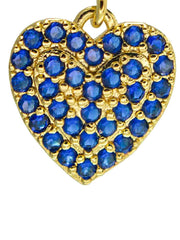 Ohrring Heart blue crystal Detail