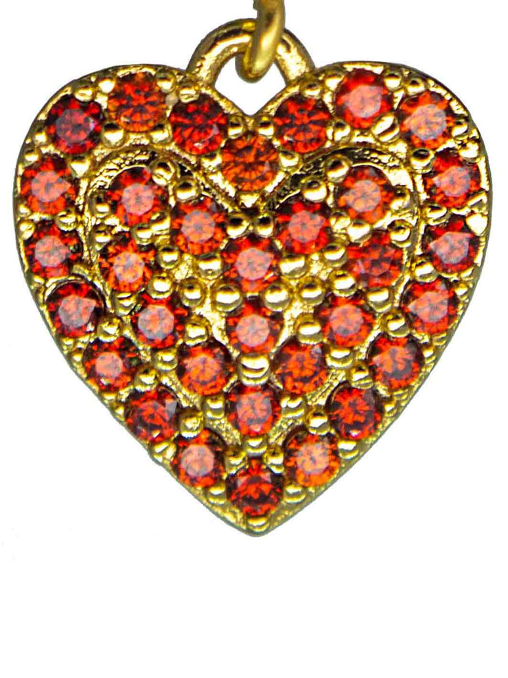 Ohrring Crystal Heart red Detail
