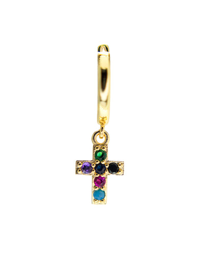Ohrring little cross color