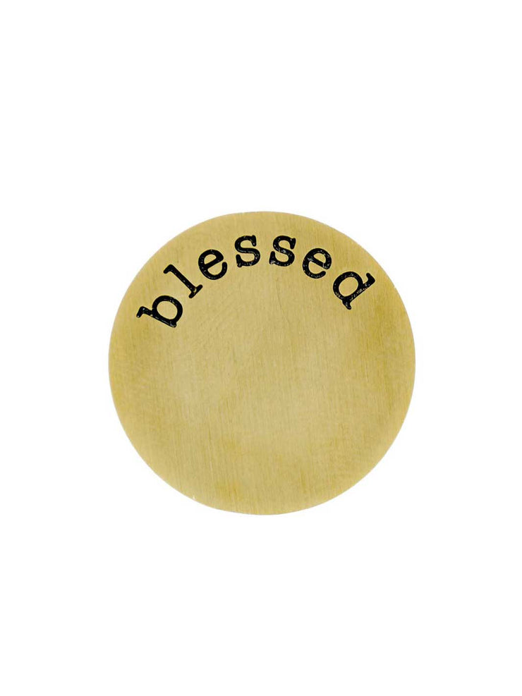 Charmz Plaettchen blessed gold