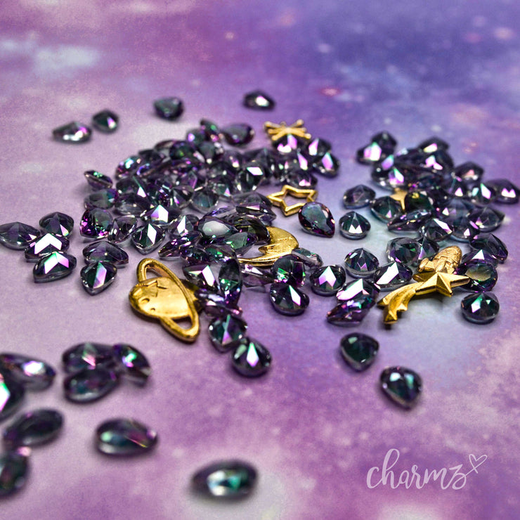 "Galaxy Charms mit ""Pear"" Galaxy Crystal"