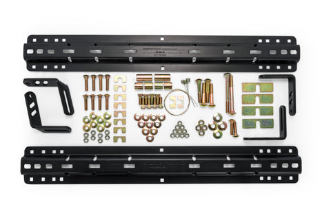 5th Wheel Install Kit - 4- & 10-Bolt Pattern Rails for 16K/18K/22K, Bed Rails/Brackets/Hardware