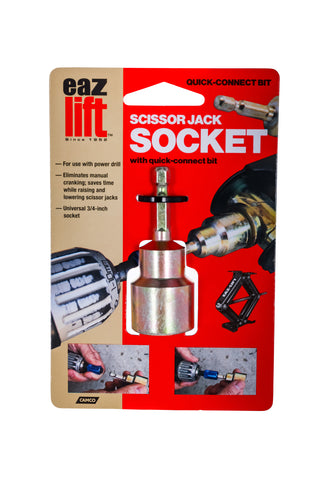 Quick Connect Scissor Jack Socket Drill Adapter - ¾""