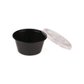 Hotpack | 100 cc BLACK PORTION CUPS WITH CLEAR LID | 2500 Pieces