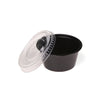 Hotpack | 30 cc BLACK PORTION CUPS WITH CLEAR LID | 2500 Pieces